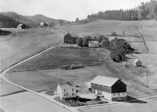 Bjørg. Flyfoto 1963