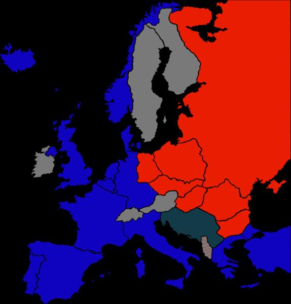 den kalde krigen kart Etterkrigstid: 1946 – Jernteppe, kald krig og Viktor Kravsjenko  den kalde krigen kart
